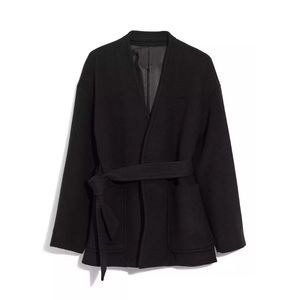 NEW MADEWELL BELTED WOOL WRAP COAT M